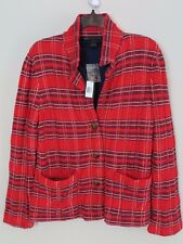 NWT Marc by Marc Jacobs Red Plaid 100% Wool Lined Jacket Size L MSRP $328