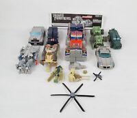 Transformers mixed lot 8 total Figures Optimus Prime Tank Dump Truck Car