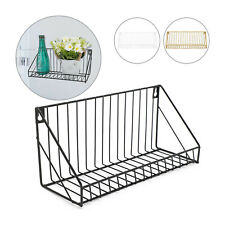 Vintage Floating Metal Wall Mounted Shelf Unit Bathroom Rack Shelves Industrial
