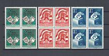 AUSTRIA 1950 SG 1212/14 MNH Blocks of 4 Cat £720