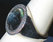 SUSPICION STERLING MYSTIC TOPAZ  RING IN A LUCKY SIZE - 6