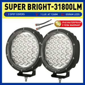 OSRAM Slim 7 inch LED Driving Spot Lights Black Round Work Offroad SUV 4X4 Truck