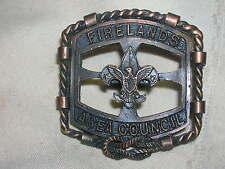 Boy Scouts Slide Neckerchief Slide Firelands Area Council Rope Design Metal 1965