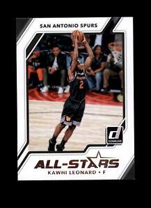 2017-18 Donruss All-Stars Insert #4 Kawhi Leonard LA Clippers Basketball Card