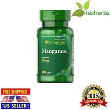 Manganese Gluconate 50 mg Supports Bone Health DIETARY SUPPLEMENT 100 Tablets
