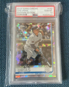 Luis Urias 2019 Topps Chrome Sapphire Rookie Brewers GEM MINT RC PSA 10 RC