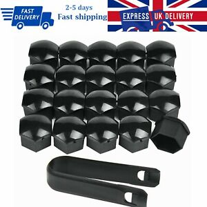 20x22mm Black Wheel Nut Bolt Covers ABS Caps Fit Range Rover Vauxhall Insignia