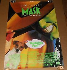 The Mask Movie Poster Original 1995 Promo 39.5x27 Jim Carrey