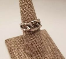 Lia Sophia Knot Ring Silver Tone Infinity Braided Twist Size 6.5