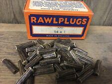 Verpackung 100 NOS Original Faser Dübel 2.5cm x 14 Rawl Vintage Retro