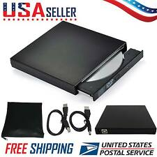 Slim External USB 2.0 DVD R CD Writer Drive Burner Reader Player For Laptop PC