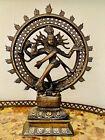 "Antique Hindu Dancing Shiva Nataraja Lord of Dance Bronze 11-1/2"" High"