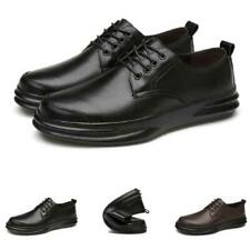 Mens Work Office Lace up Breathable Casual Faux Leather Business Leisure Shoes L