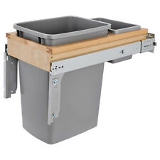 Rev-A-Shelf 4WCTM-12BBSCDM1 35 Quart Top Mount Waste Containers, Maple and Gray