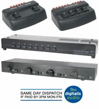 2, 4, 8 Way Zonal Speaker Selector Switch Port Splitter Audio Distribution Box