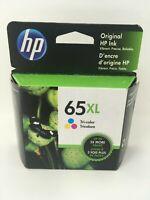 NEW Genuine HP 65XL Tri-Color Ink Cartridge High Yield N9K03AN OEM Exp 2021-2022