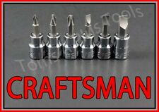 Craftsman Tools 6pc 38 Phillips Flat Blade Screwdriver Socket Wrench Bit Set