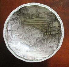"""Kensington Staffordshire Ironstone ~ Dickens Coaching Days ~ 6-1/2"""" Cereal Bowl"""