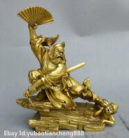 Chinese Myth Brass ChungKuel Zhongkui catcher ghost Immortal god Statue Figurine