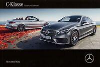 Mercedes C-Klasse Coupé Cabriolet Prospekt 7/16 2016 30.5.16 brochure prospectus