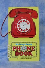 Chickaree Union Church Vintage Golden Book, play and learn funny bunny phone bk