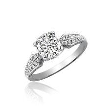 18k Gold Cushion Cut 1.80 Carat Diamond Engagement Ring GIA Certified