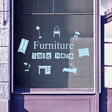 Furniture For Sale Here Vinyls Shop Window Display Wall Decals Stickers B48