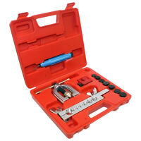 MM / SAE DOUBLE FLARING BRAKE LINE TOOL KIT W/ MINI PIPE CUTTER CAR TRUCK SINGLE