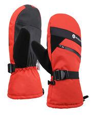 Men Ski Mittens Waterproof Warm Winter Snow Snowboard Thermal Zipper Gloves