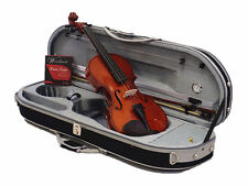 Best Value-4/4 Ebony Fitting with Solid Wood Violin outfit-Bow-Case-Rosin-String