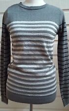 ENERGIE Womens Junior Size L Striped Sweater Cotton Blend