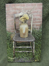 Bouquet Canvas Decor Billy Jacobs Red Brick Wall Chair Flowers