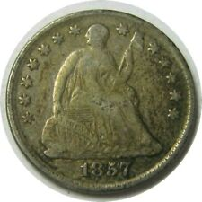 elf Seated Liberty Half Dime 1857  Drapery at Elbow