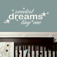 Sweet Dreams - Kids Quote / Giant Vinyl / Big Childrens Quote Wall Sticker nin39