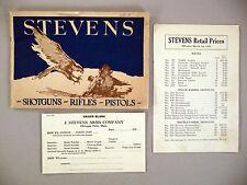Stevens CATALOG - 1925 -- with its Price List -- shotguns, rifles, pistols