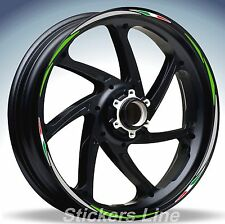 Adesivi ruote moto strisce cerchi KAWASAKI Z750 Racing 4 sitckers wheel Z 750 R