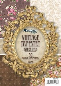 KANBAN 'VINTAGE TAPESTRY' A6 Paper Pad *BRAND NEW* *36 Double-sided sheets*
