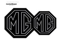 MG TF 2009> New Badge Inserts Front & Rear 70mm 90mm Black Silver Stroke Badges