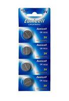 4 x CR1632 3V Lithium Batterie 120 mAh ( 1 Blistercard a 4 Batterien ) Eunicell