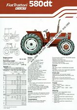Fiat 580dt tractor 2 sided A4 leaflet /Brochure 1979?