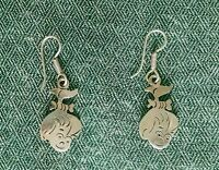 Flintstones Pebbles Earrings .925 Sterling Silver Vintage Taxco 1 3/8""
