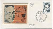 FRANCE 1975.F.D.C.SOIE.EDMOND MICHELET.OBLIT:LE 22/2/75PARIS& BRIVE LA GAILLARDE
