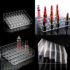 Clear 40 Acrylic Make-up Brushs Storage Organiser Case Display Lipstick Holders