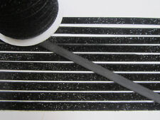 10 Meter schwarz Borte Spitze Nichtelastisch Lurexband Glitzerband 1cm BB 250***