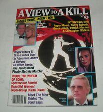 1985 A VIEW to a KILL MOVIE MAGAZINE ROGER MOORE JAMES BOND TANYA ROBERTS