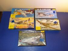 1/72 scale Heller lot of 5 Mustang spitfire Helldiver ++++