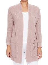 Women's Two Pockets Long Sleeve Open Front Drape Sweater Cardigan Jacket HK8189