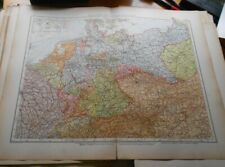 "Antique Map - Andrees, 1914.  ""German Reich - Political Overview"""