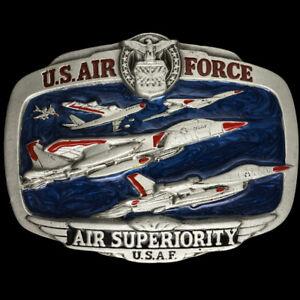 Air Force USAF Logo Luftfahrt Adler Veteran Pilot Geschenk Nummern Vintage Gurt