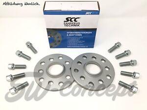 20mm 2x10mm SCC Spurverbreiterungen für Audi 4x108 57,1 80 90 100 200 + Schraube